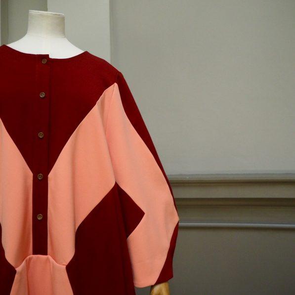 Letter crepe dress by Henrik Vibskov, Nordic Craft and Design exhibition