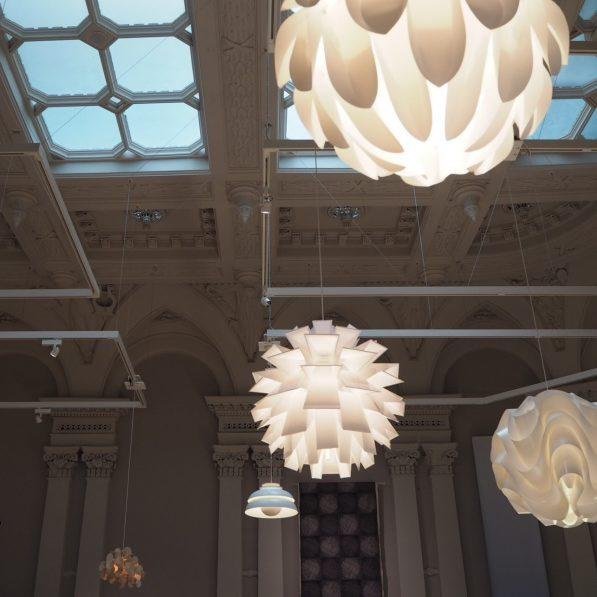 Lighting display, Nordic Craft and Design exhibition